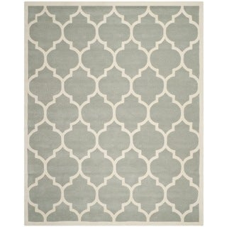 Safavieh Geometric Handmade Moroccan Chatham Gray Wool Rug (8'9 x 12')