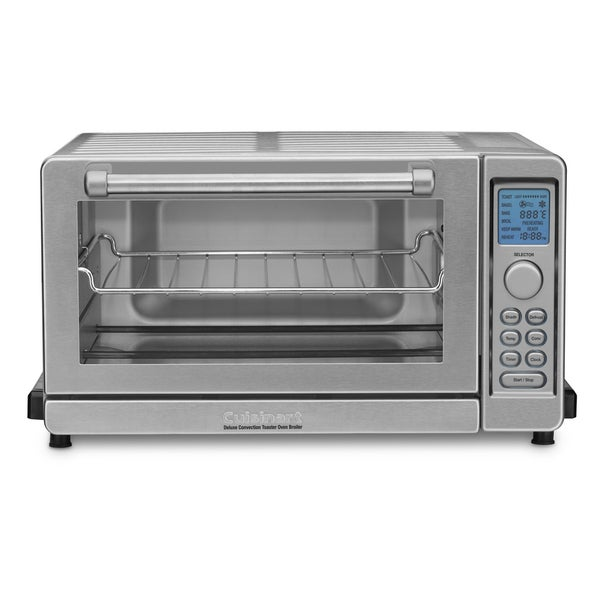 Cuisinart TOB 135 Brushed Stainless Steel Deluxe Convection Toaster Oven Broiler Overstock