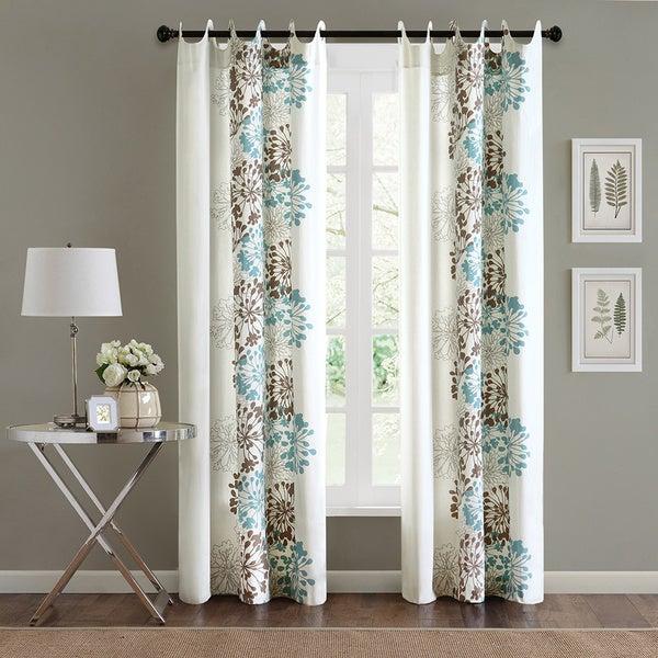 Madison Park Adria Cotton 84 Inch Curtain Panel