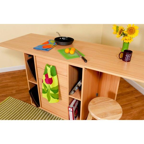 Modern Portable Kitchen Island Center Storage Cabinets