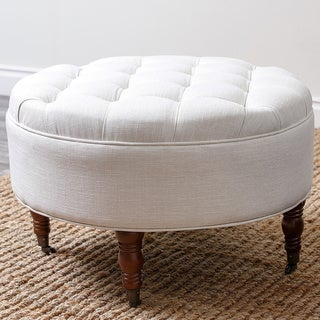 Abbyson Living 'Clarence' Tufted Round Ottoman