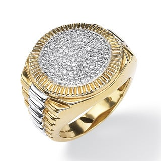 PalmBeach Gold/ Silver Men's 1/6ct TDW Diamond Ring (H-I, I3)