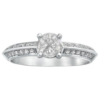 Beverly Hills Charm 14k Gold 5/8ct TDW Diamond Engagement Ring (H-I, SI1-SI2)