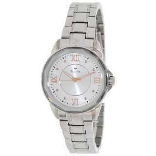 Bulova Women's Dress 96L172 Silver Stainless Steel Quartz Watch with Silver Dial