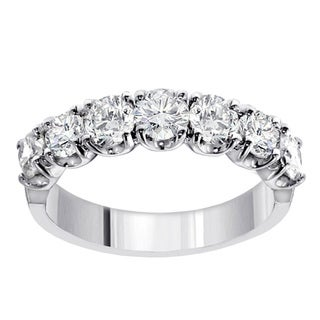 14k/18k Gold or Platinum 1 1/2ct TDW Diamond Wedding Band (F-G, SI1-SI2)