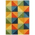 Alliyah Handmade Multi-Colored New Zealand Blend Wool Rug (9' x 12')
