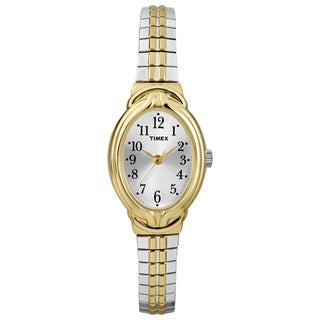 Timex Women's Elevated Classics Oval Two-Tone Expansion Band Dress Watch