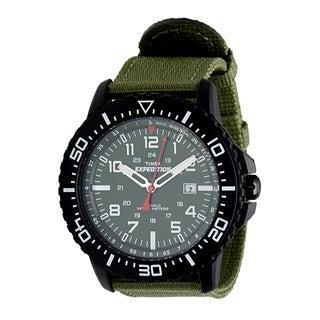 Timex Men's T49944 'Expedition Uplander' Black/Green Watch