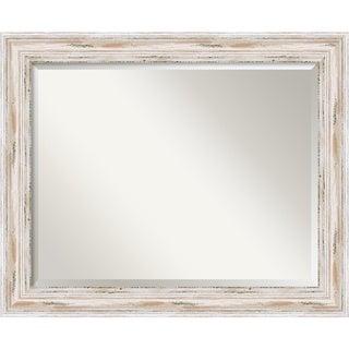 Alexandria Whitewash Large Wall Mirror