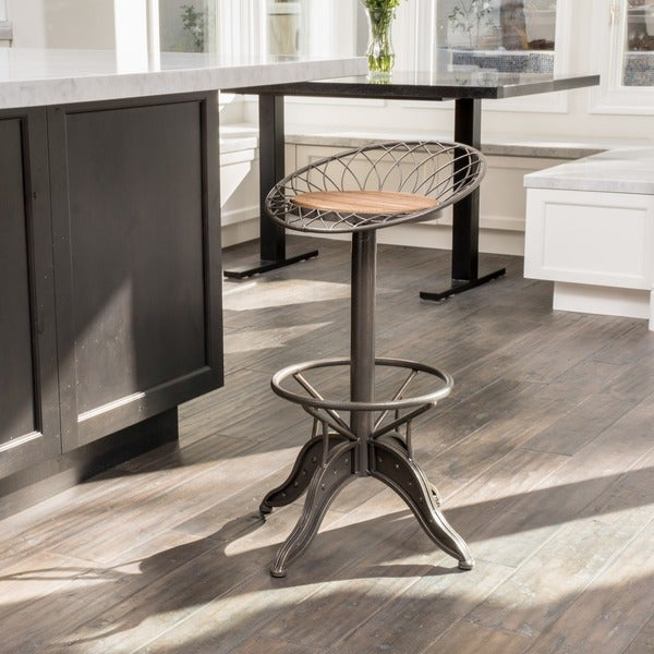 Christopher Knight Home Grayson Weathered Wood Barstool