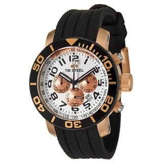 TW Steel Men's 'Grandeur Diver' Rose Goldtone Chronograph Watch