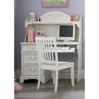 Liberty 'Arielle' Antique White Student Desk and Hutch