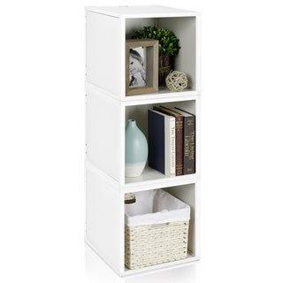 Stackable Eco-friendly 3-box Storage Cube with Optional Door