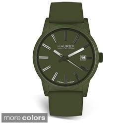 Haurex Italy Men's Compact Aluminum Genuine Leather Strap Watch