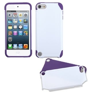 Insten White/ Purple Fusion Hard PC/ Silicone Dual Layer Hybrid Case Cover For Apple iPod Touch 5th/ 6th Gen