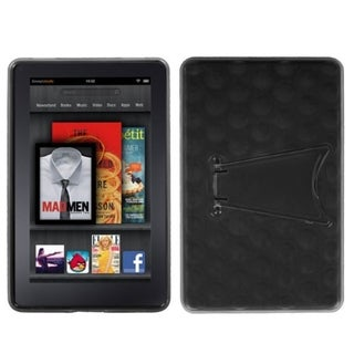 INSTEN Transparent Smoke/ Solid Black Phone Case Cover with Stand for Kindle Fire