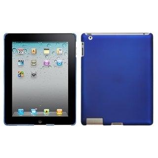 INSTEN Titanium Dark Blue Back Tablet Case Cover for Apple iPad 2/ 4