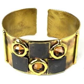 Handcrafted Showplace Topaz Brass Cuff (South Africa)