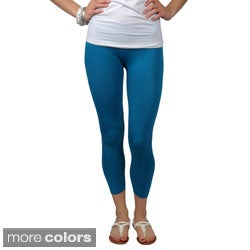 Journee Collection Juniors Stretchy Capri Leggings (One Size)