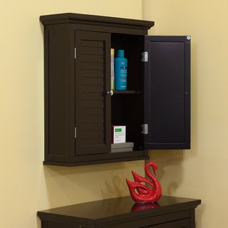 Bayfield Dark Espresso Double Shutter Door Wall Cabinet