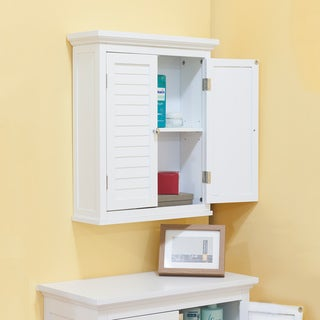 Bayfield White Finish Cabinet With Shutter Doors
