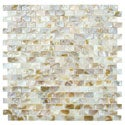 SomerTile 12.5x12.25-inch Seashell Subway Natural Mosaic Tiles (Pack of 10)