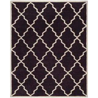 Safavieh Handmade Moroccan Chatham Dark Purple Wool Rug (8' x 10')