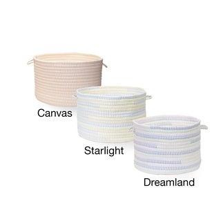 Ticking Striped Fabric Basket