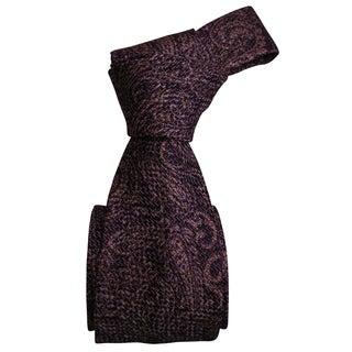 Dmitry Men's Purple/ Beige Patterned Italian Silk Tie
