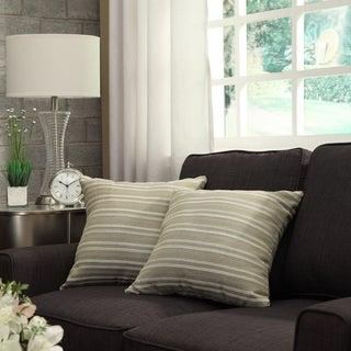 INSPIRE Q Clybourn 18-inch Spring Green Stripe Toss Pillow (Set of 2)