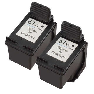 HP CH563WN (HP 61XL) High-Yield Black Compatible Ink Cartridge (Pack of 2)