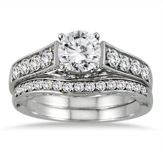 14k White Gold 1 3/4ct TDW White Diamond Bridal Set (I-J, I2-I3)