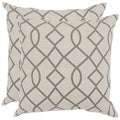Safavieh Margie 18-inch Grey Feather Decorative Pillows (Set of 2)
