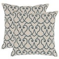 Safavieh Kyle 18-inch Blue Feather Decorative Pillows (Set of 2)