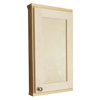 Shaker Series 24-inch Natural Finish 2.5-inch Deep Inside On The Wall Cabinet