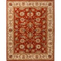 Hand-tufted Traditional Oriental Red/ Orange Rug (10' x 14')