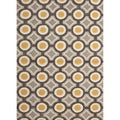 Hand-tufted Contemporary Geometric Pattern Yellow Rug (2' x 3')