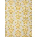 Handmade Flat Weave Floral Pattern Yellow Rug (3'6 x 5'6)