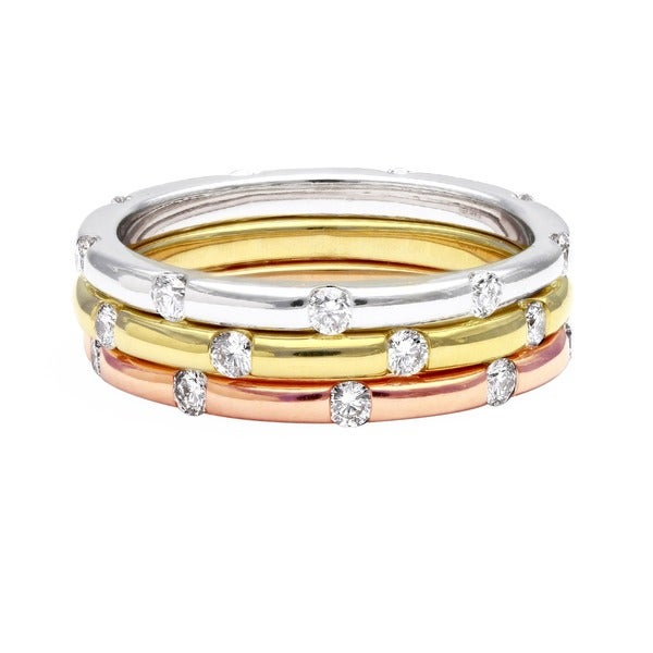 Beverly Hills Charm 14k Gold 1/4ct TDW Stackable Diamond Eternity Band Ring (H-I, SI2-I1)