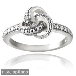 DB Designs Sterling Silver Diamond Accent Love Knot Promise Ring
