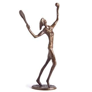 Female Tennis Player Bronze Sculpture