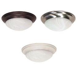 Nuvo 2-light Alabaster Glass 14-inch Flush Mount