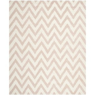 Safavieh Handmade Moroccan Cambridge Light Pink/ Ivory Wool Rug (9' x 12')