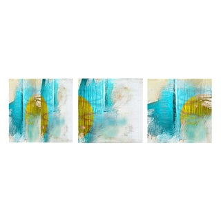 Alexis Bueno 'Abstract' Gallery-wrapped Canvas 3-piece Set