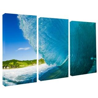 Nicola Lugo 'Surf Photography' Canvas Surf Art 3-piece Set