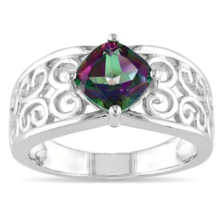 M by Miadora Sterling Silver 1 3/4ct Exotic Green Topaz Ring