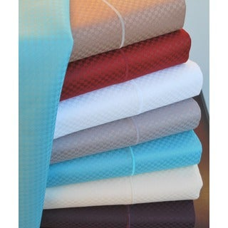 Luxor Treasures Micro-checked 800 Thread Count 6-piece Sheet Set