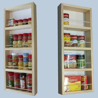 On-the-Wall Dual-depth 28 and 28 Spice Rack Set