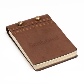 Handmade Leather 'Scribbles' Notepad (India)