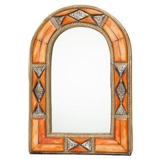 Classic Arched Henna Bone Moroccan Mirror (Morocco)